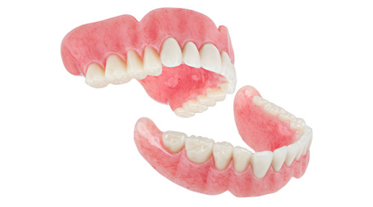 a photo of dentures